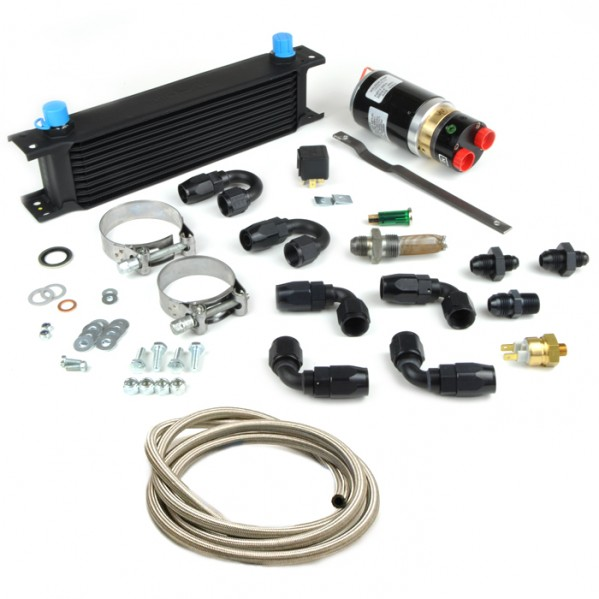 Diff cooler pump kit with Black fittings