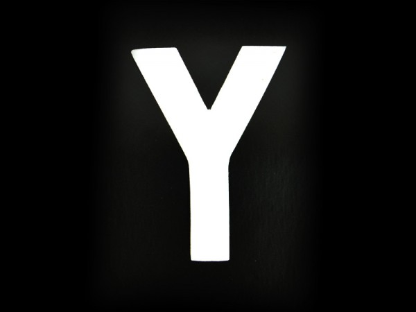 3 Number Plate Letter Y