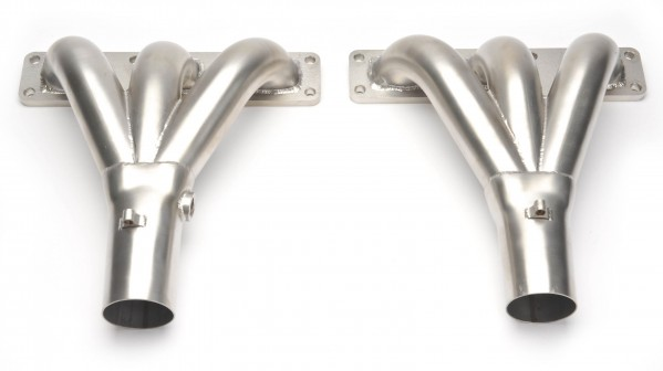 Straight Port Exhaust Manifold Pair - Stainless Steel