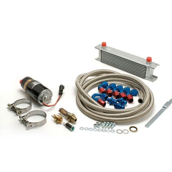 Rear Differential Cooler Kits : Diff cooler pump kit with blue red fittings these axle