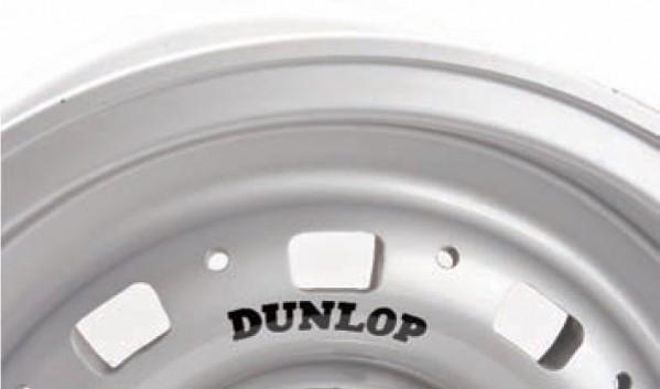 Dunlop Wheel Sticker - Black