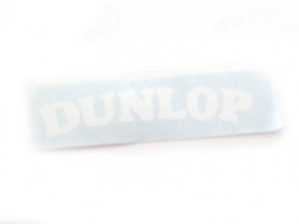 Dunlop Wheel Sticker - White