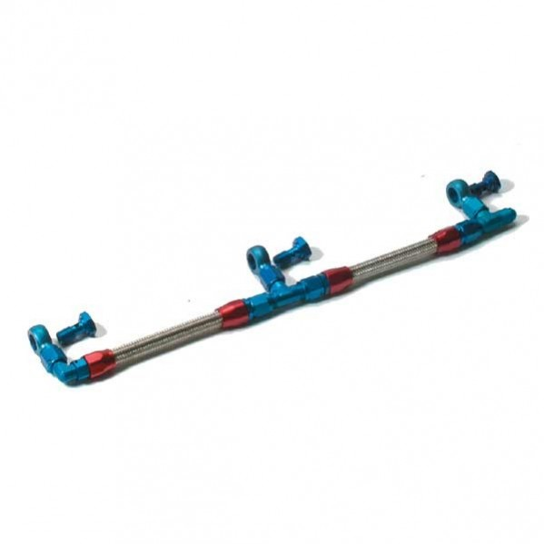 Weber Fuel Rail - Red/Blue ( Underneath )