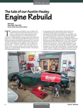 Austin Healey Engine Rebuild Story